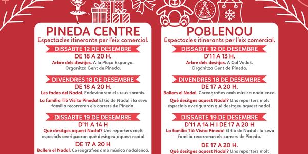 Espectacles itinerants a l'eix comercial Poblenou