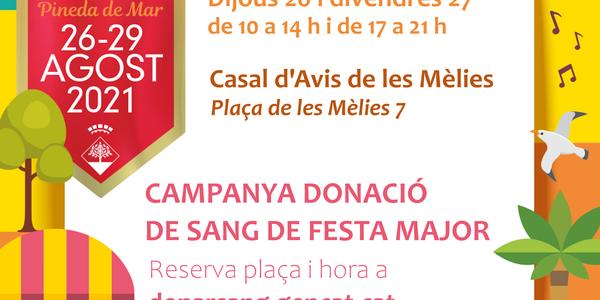 #FMPineda - Campanya de donació de Sang (dijous)