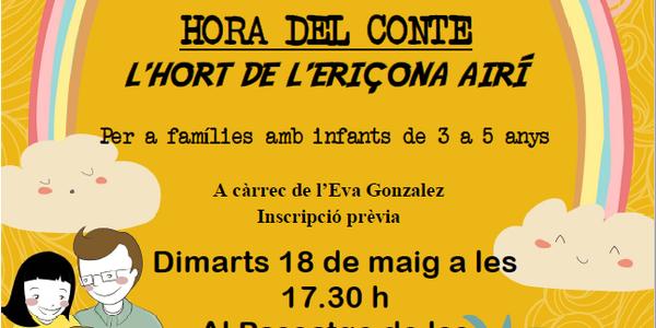 Hora del conte per Petits Lectors 'L'Hort de l'eriçona Airí'