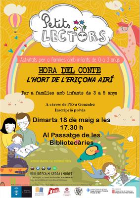Hora del conte per Petits Lectors 'L'Hort de l'eriçona...