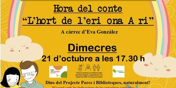 """L'hort de l'eriçona Aïrí"""" a càrrec d'Eva Gonzalez."""