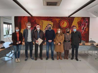 Acte de reconeixement a la Farmàcia Mir pel seu 50è aniversari