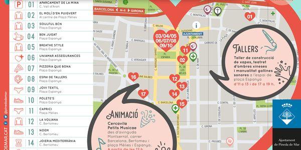 Campanya de fora estocs a Pineda amb botigues al carrer i outlet de la Fundació El molí d'en Puigvert