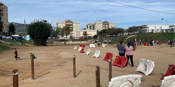 Habilitat un pas per a vianants a l'escola Poblenou per l'aparcament de Costa Brava
