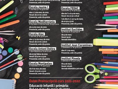 Jornada de Portes Obertes als centres educatius de Pineda de Mar