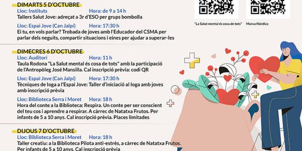 L'Ajuntament de Pineda organitza la Setmana de la Salut Mental