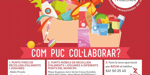 La Hermandad del Rocío i la  A.C. Mare de Deu dels Dolors i el Crist Jacent organitzen la campanya de recollida d'aliments i joguines
