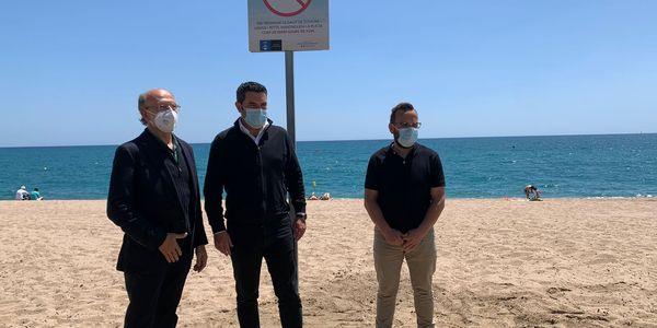 Pineda de Mar presenta la «Setmana Sense Fum» amb un tram de platja saludable lliure de fum