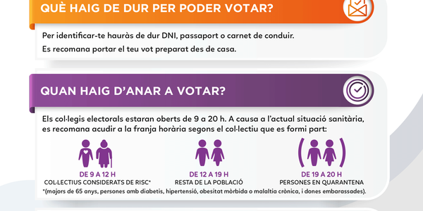 Pineda i els seus col·legis electorals s'adapten per acollir les eleccions del 14F amb totes les mesures de seguretat