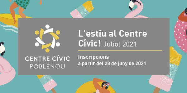Tornen els tallers presencials d'estiu al Centre Cívic Poblenou
