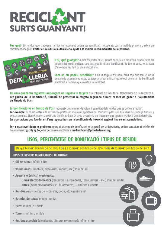 Bonificació Taxa d'Escombraries 1